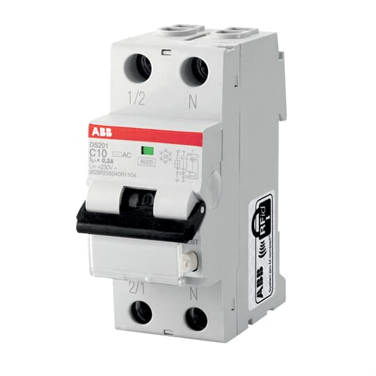 ABB DS201AC-C10/0.03 Residual Current Circuit Breaker
