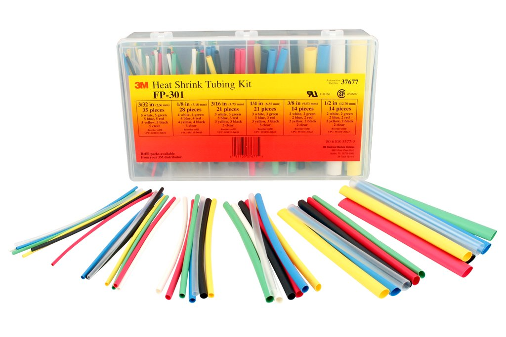 3M FP-301-COLOR-ASSORTMENT* 3/32 to 1/2, 2:1 Thin Wall, 6