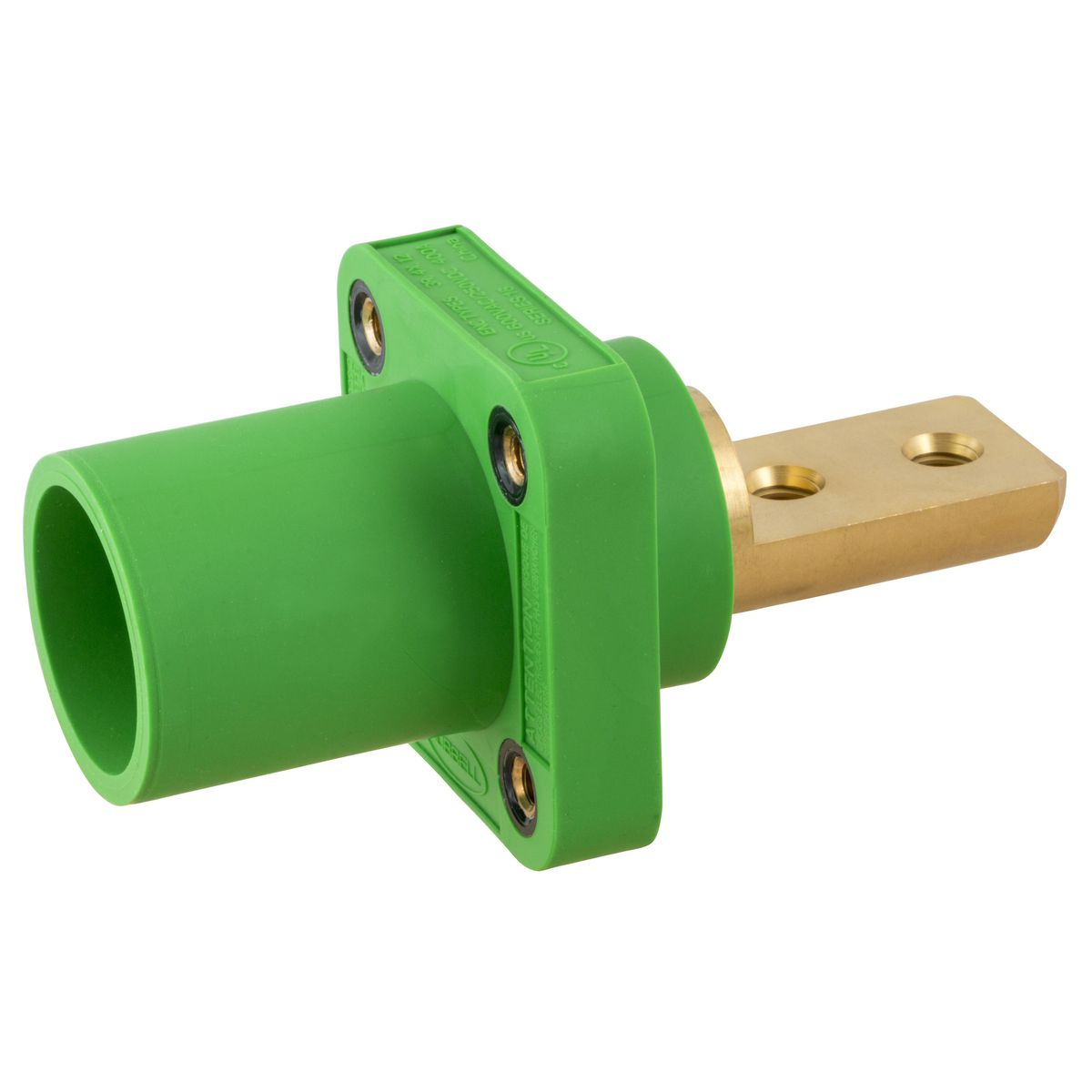 Hubbell HBLMRB2GN Single Pole Receptacle