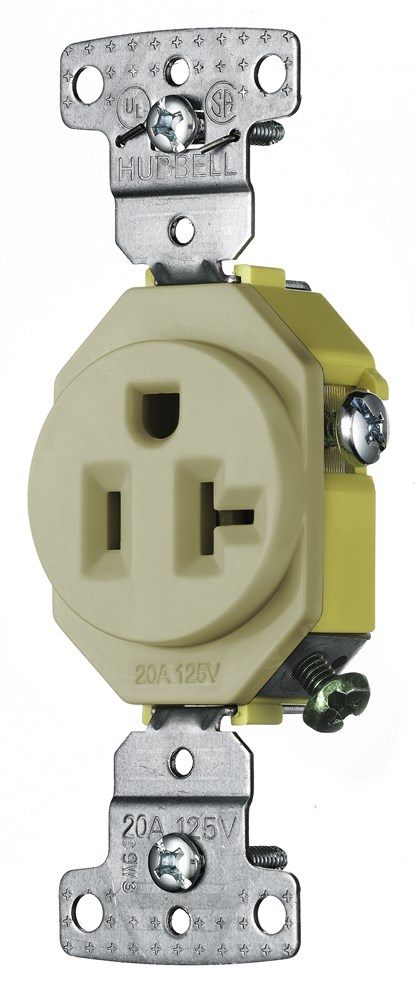 Hubbell RR201I Straight Blade Receptacle