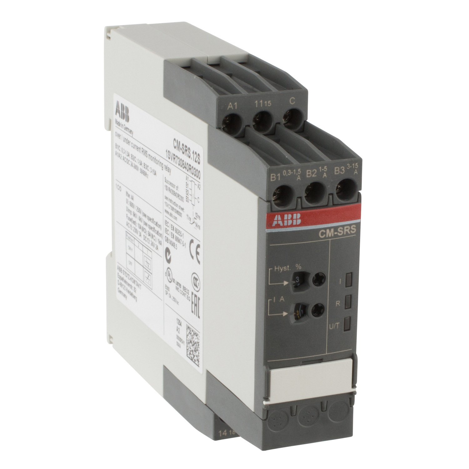 ABB 1SVR730840R0300 Current Monitoring Relay