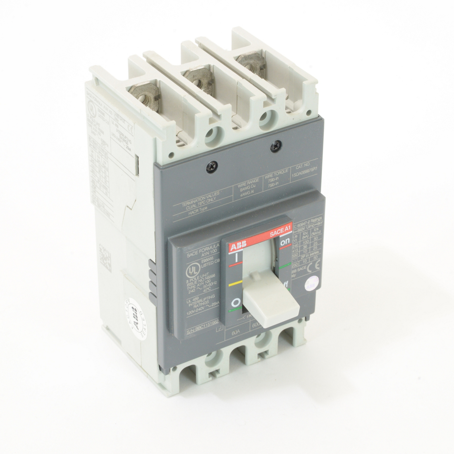 ABB A1N060TW Molded Case Circuit Breakrs