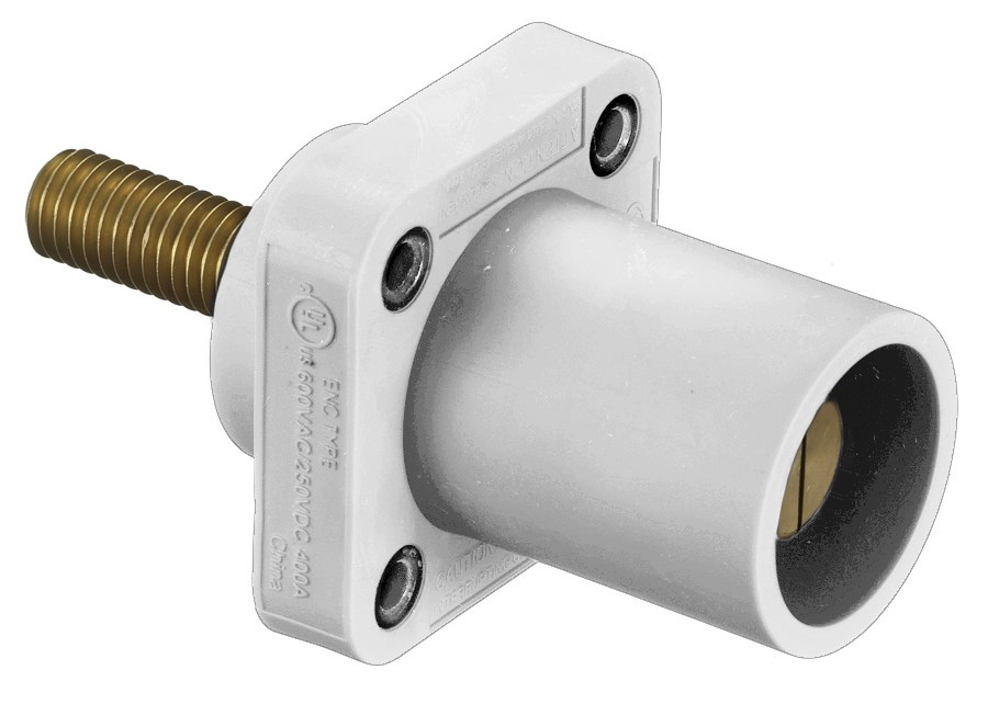 Hubbell HBLMRSCW Single Pole Receptacle