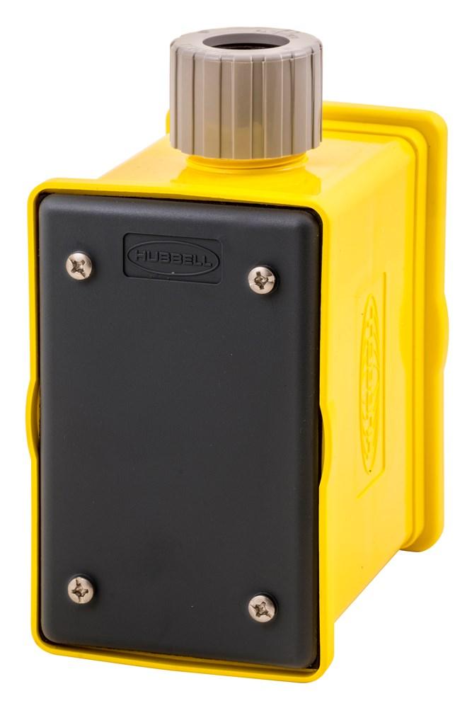 Hubbell HBLPOB1BK Portable Outlet Box