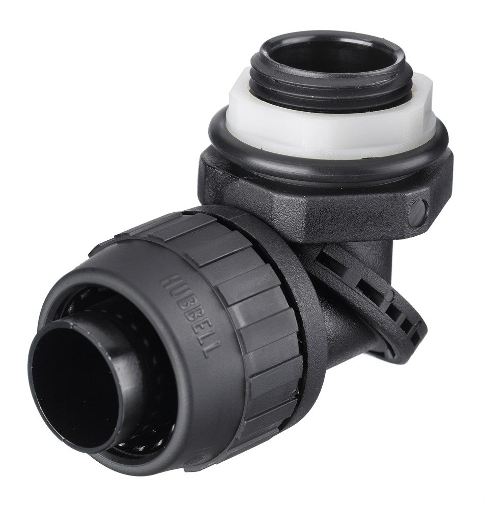 Hubbell PS0389NBK Liquidtight Conduit Connector