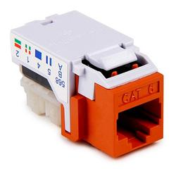 Hellermann Tyton RJ45FC6-ORN Copper Solutions Modular Keystone Jack