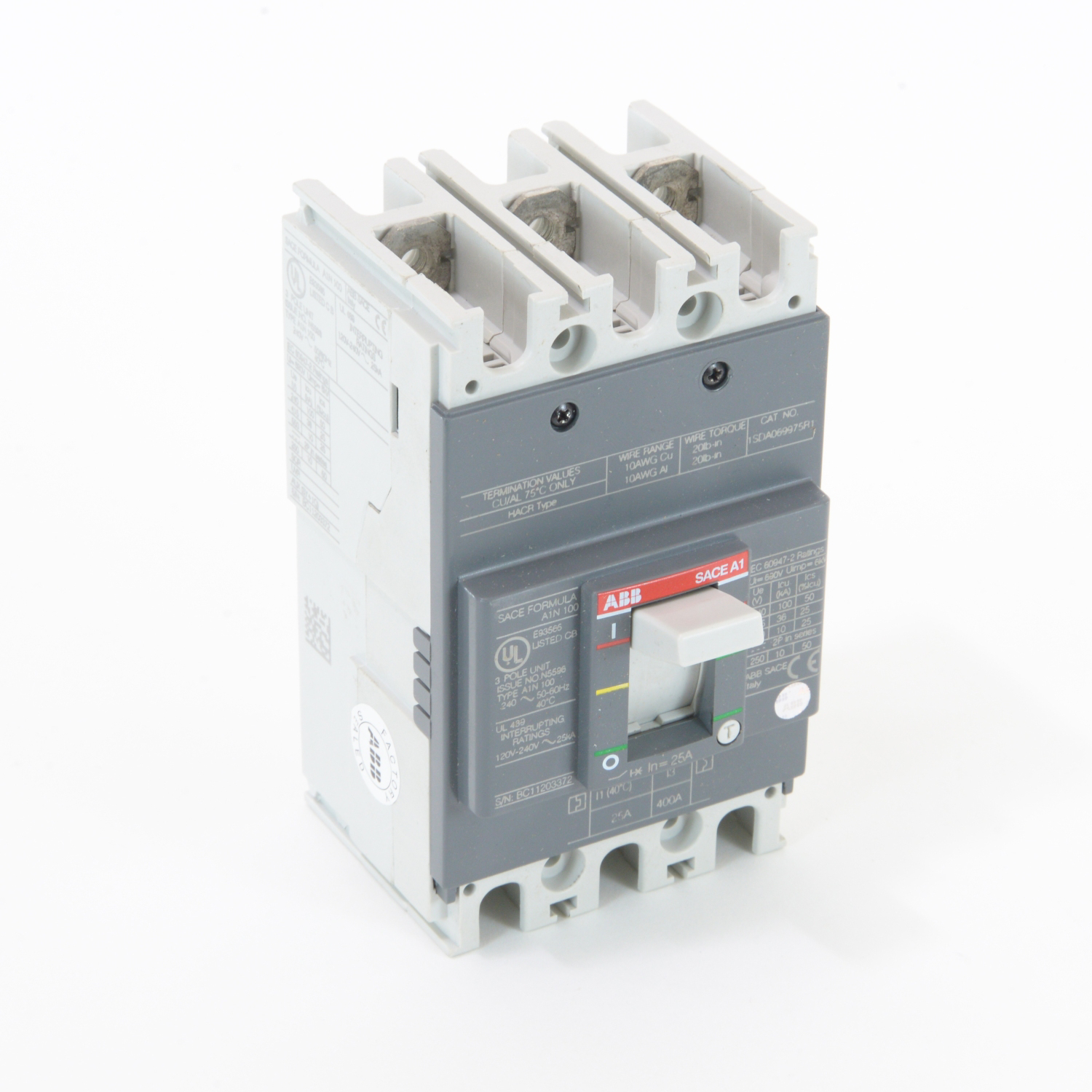 ABB A1N025TW Molded Case Circuit Breakrs