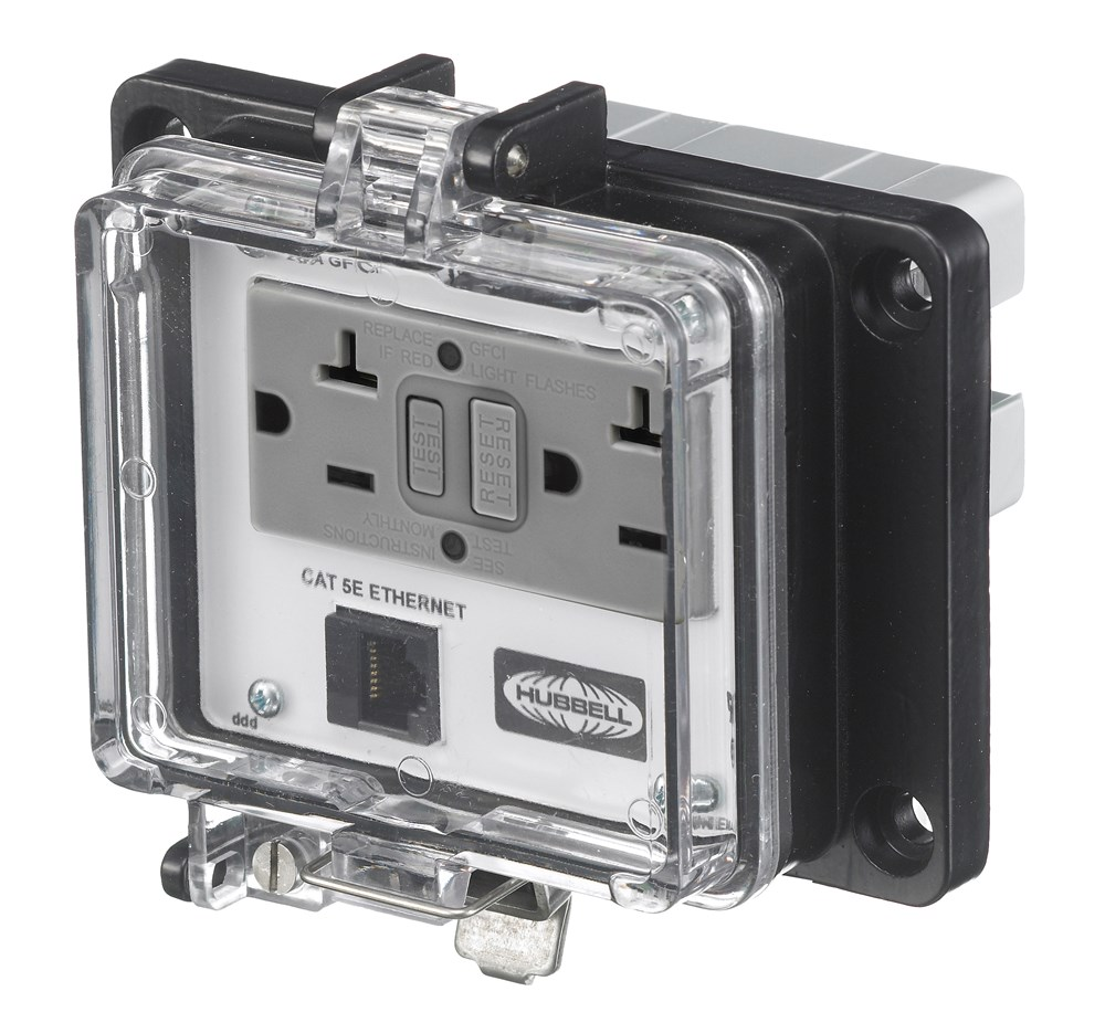 Hubbell PR4X205E Signal and Control Combination Outlet