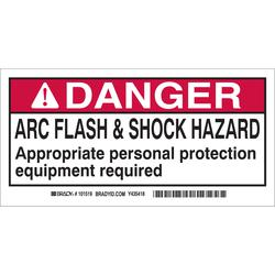 Brady 101518 Arc Flash Protection Label