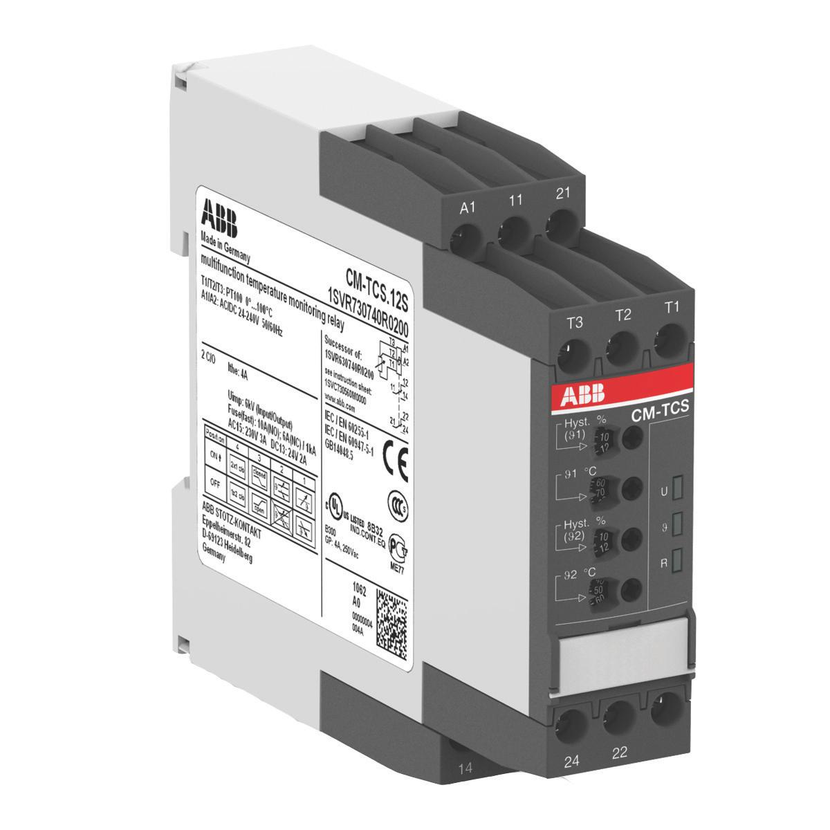 ABB 1SVR730740R0300 Temperature Monitoring Relay