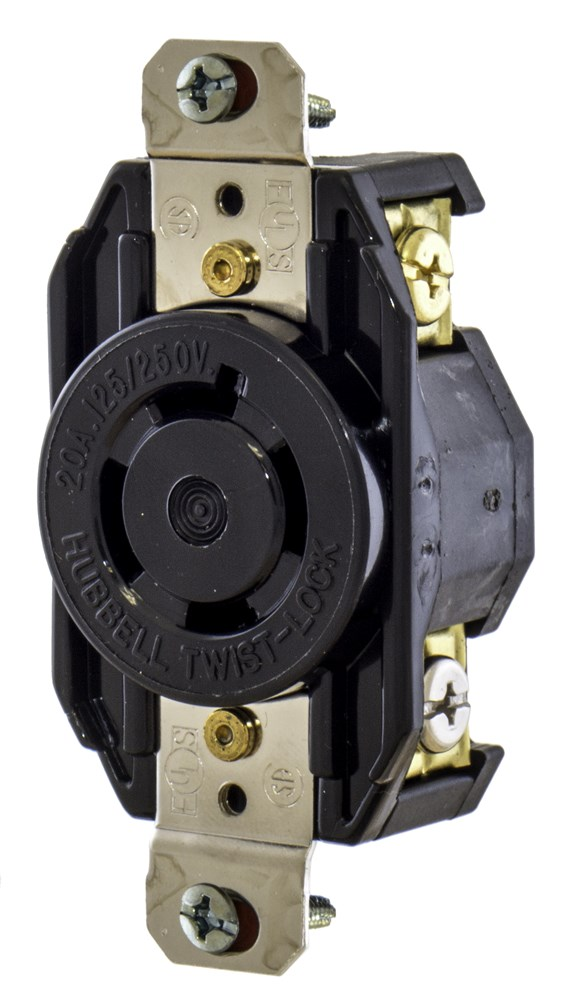 Hubbell L1520R Locking Receptacle