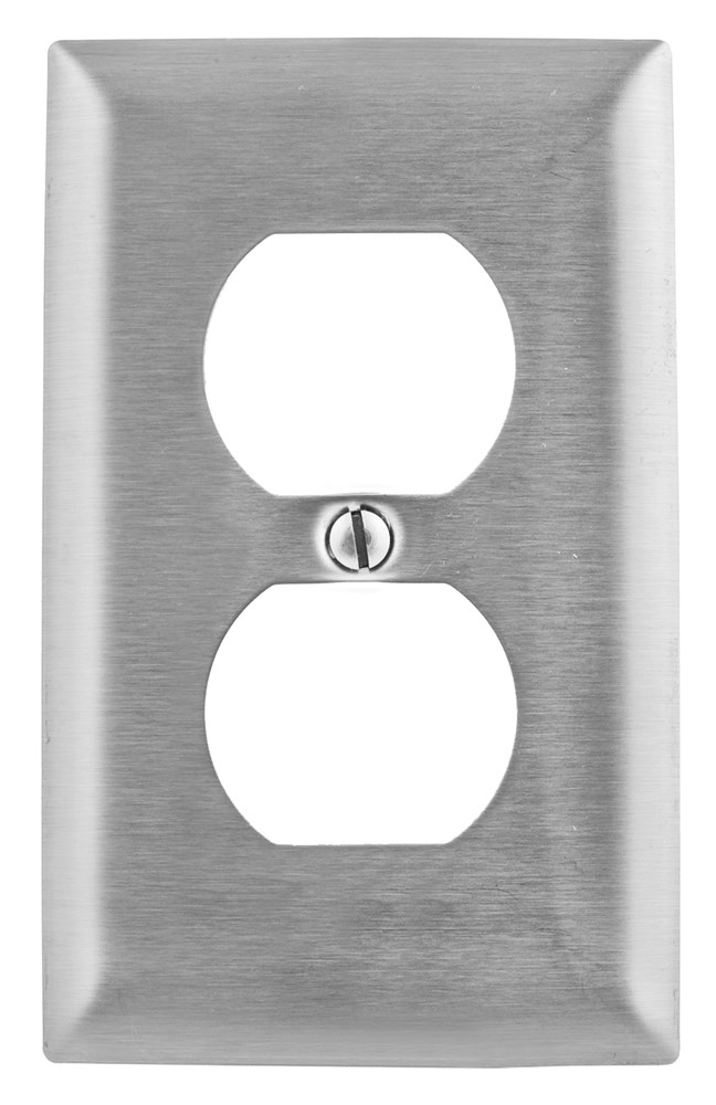 Hubbell SS8 Receptacle Wallplate