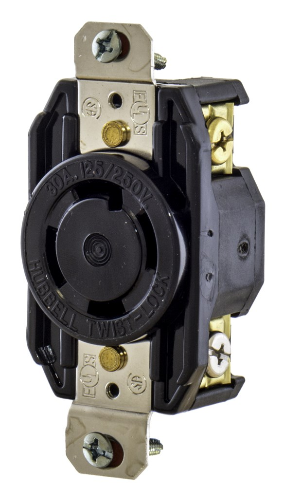 Hubbell L1430R Locking Receptacle