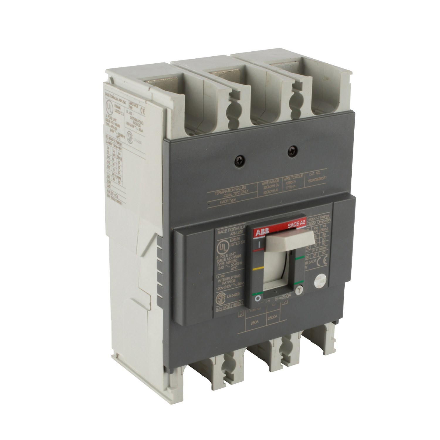 ABB A2N200TW-2 Molded Case Circuit Breakrs