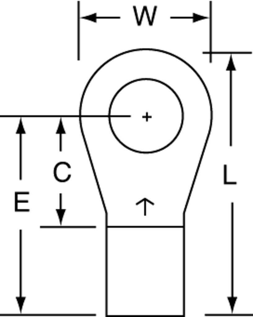 3M M8-14R/SX Electrical Terminal