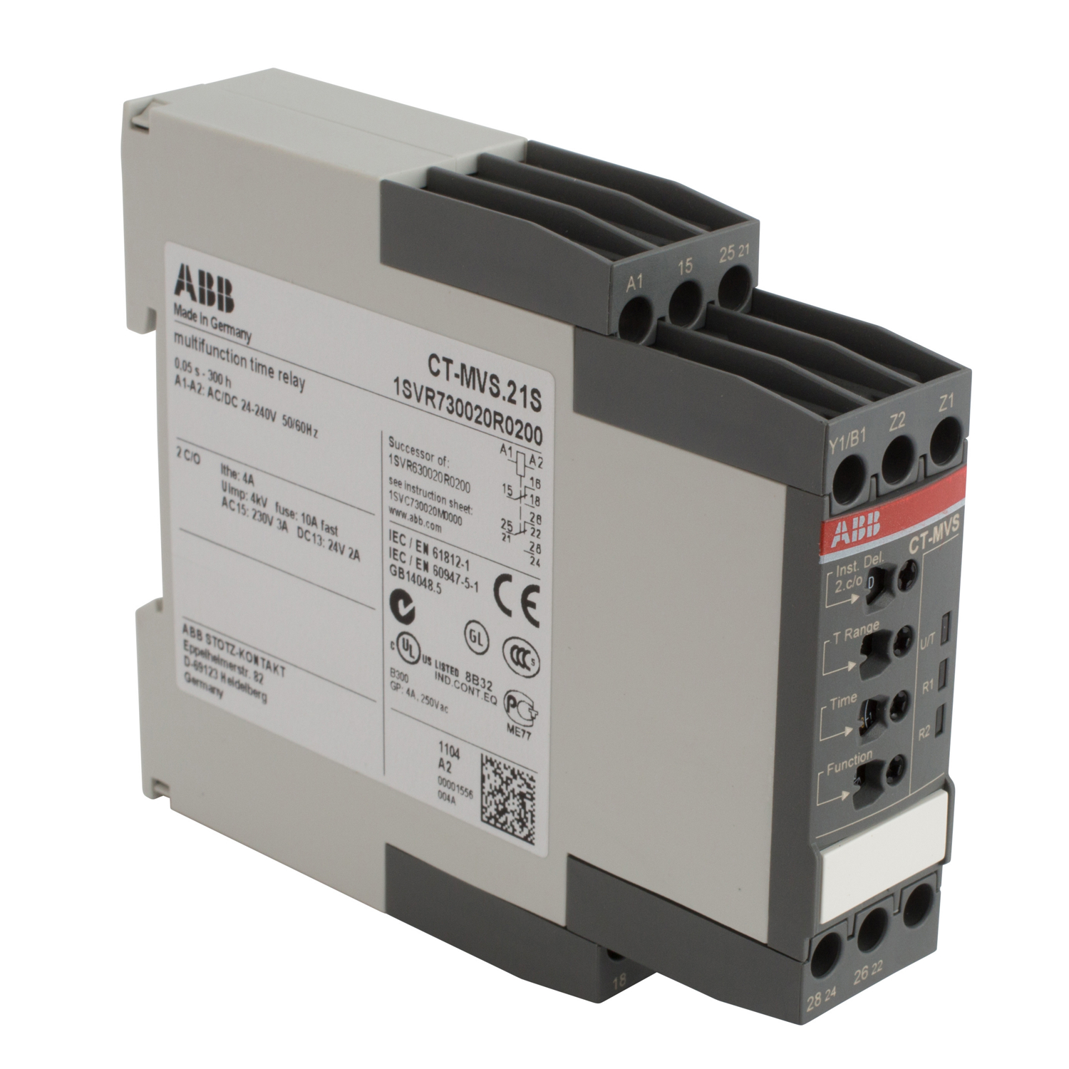 ABB 1SVR730020R0200 Electronic Time Relay