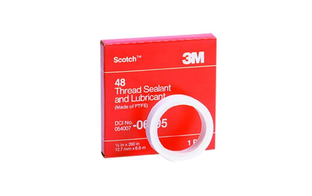 "3M 48-1/2""""""""X520"""""""" Polytetrafluoroethylene Ptfe Thread Sealing Tape"