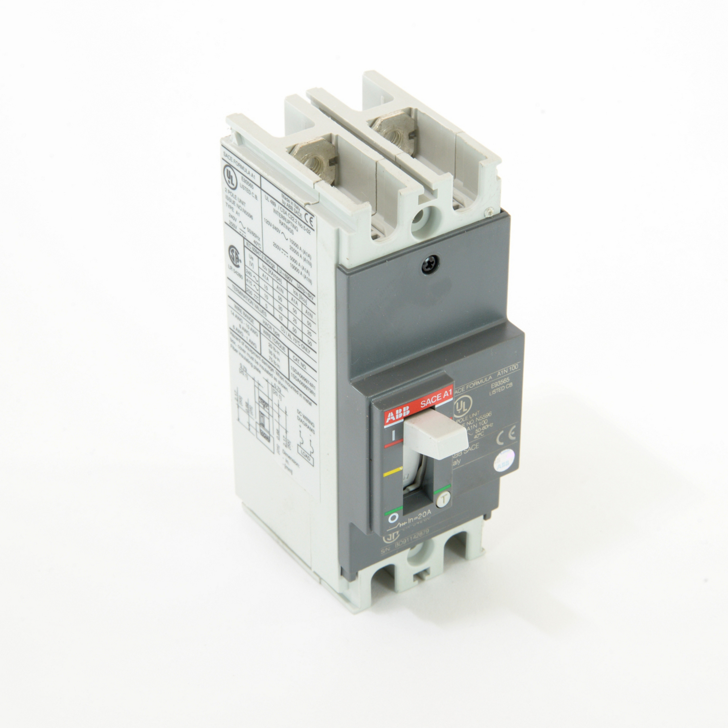 ABB A1N020TW-2 Molded Case Circuit Breakrs