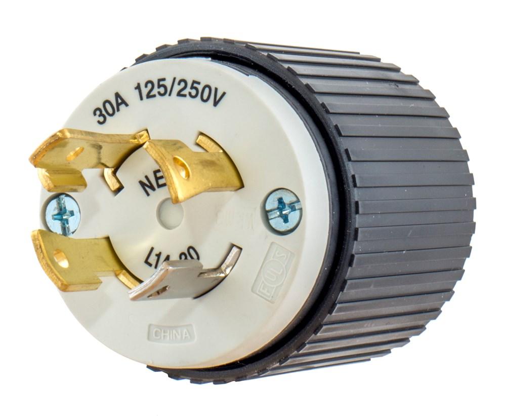 Hubbell L1420P Locking Male Plug