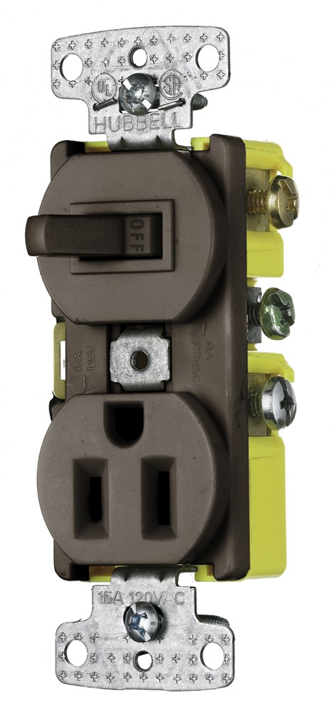 Hubbell RC108 Switch and Receptacle Combination Device