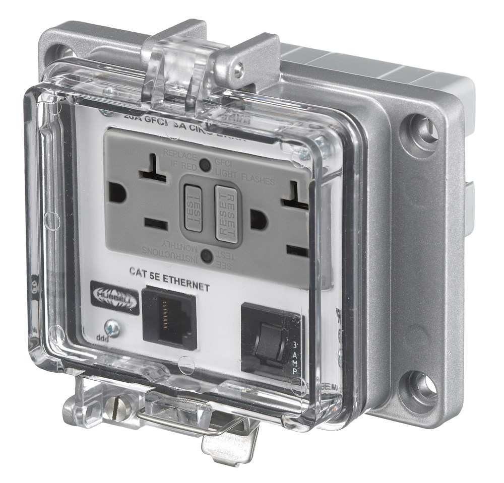 Hubbell PR205EDB9B Signal and Control Combination Outlet