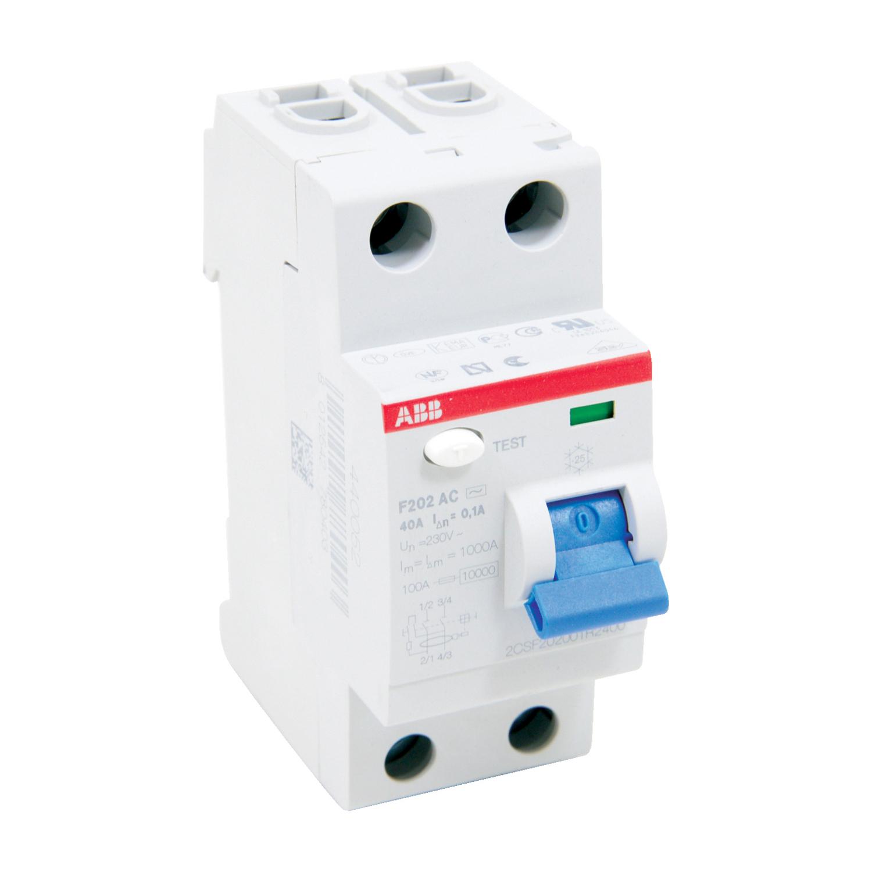 ABB F202AC-40/0.1 Residual Current Circuit Breaker