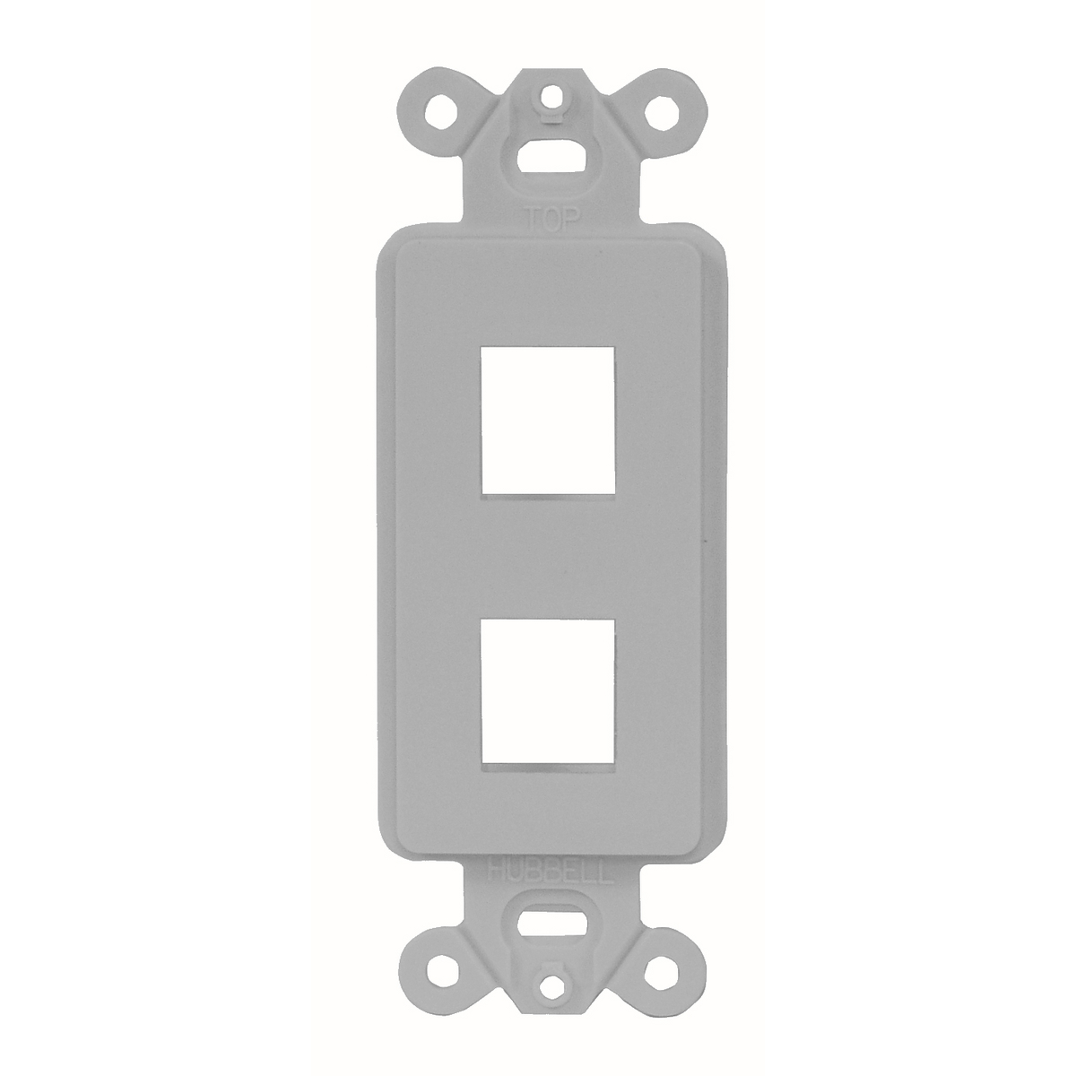 Hubbell ISF2GY Decorator Outlet Frame