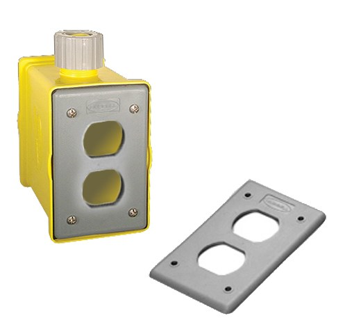 Hubbell HBLPOB1D Portable Outlet Box