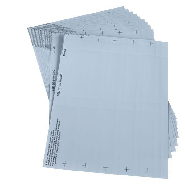 Siemens 6ES75922AX000AA0 Labeling Sheet