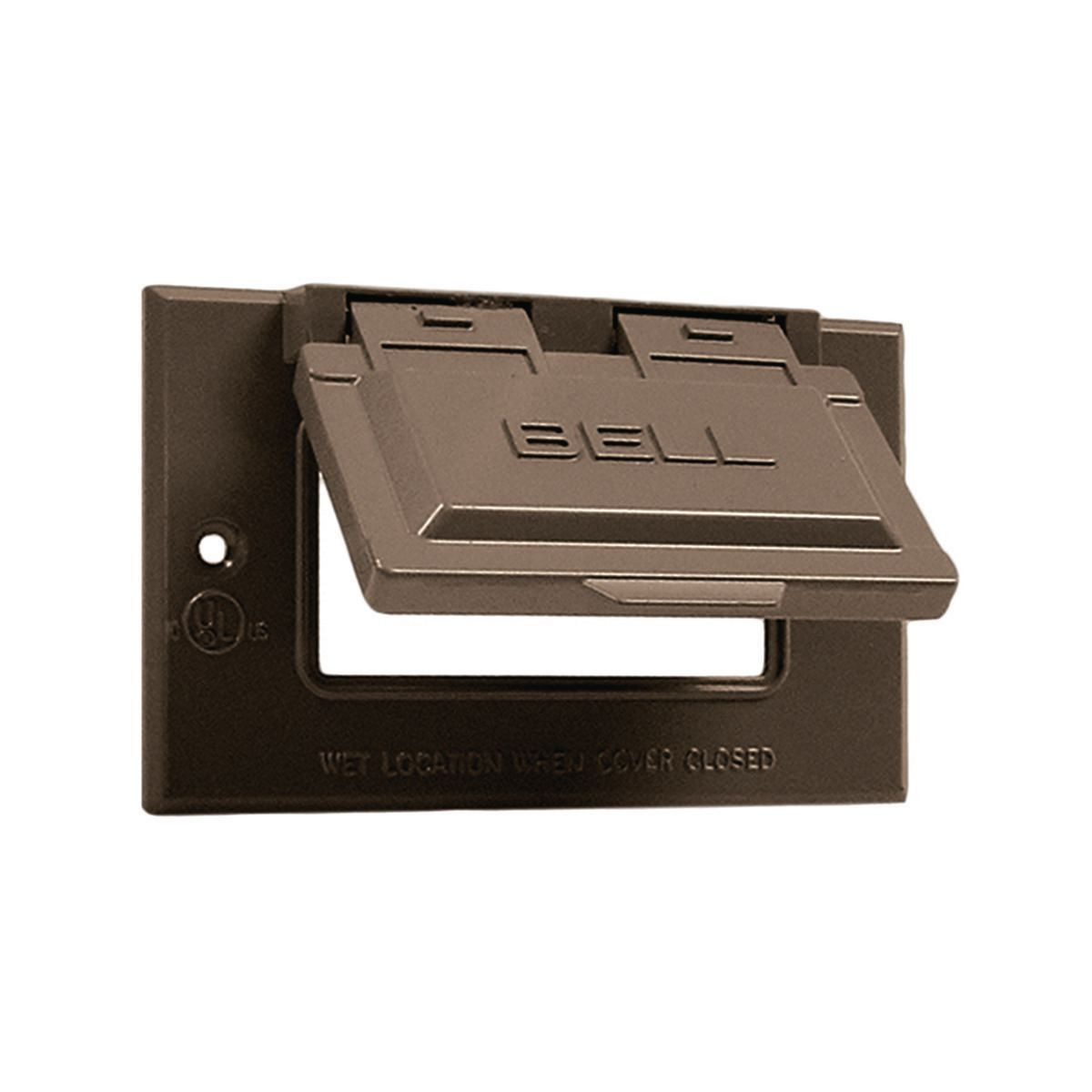 Hubbell-Raco 5101-2 BELL Rayntite Weatherproof Flip Cover