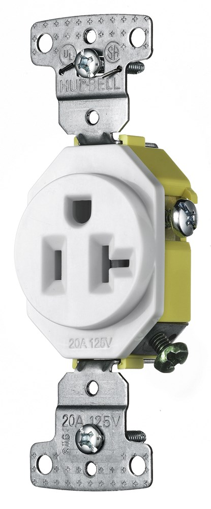 Hubbell RR201W Straight Blade Receptacle