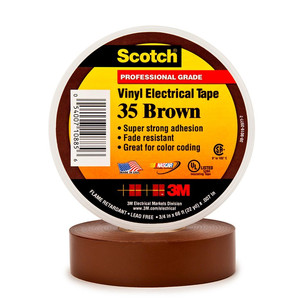 3M 35-BRN-1/2X20FT Electrical Tape