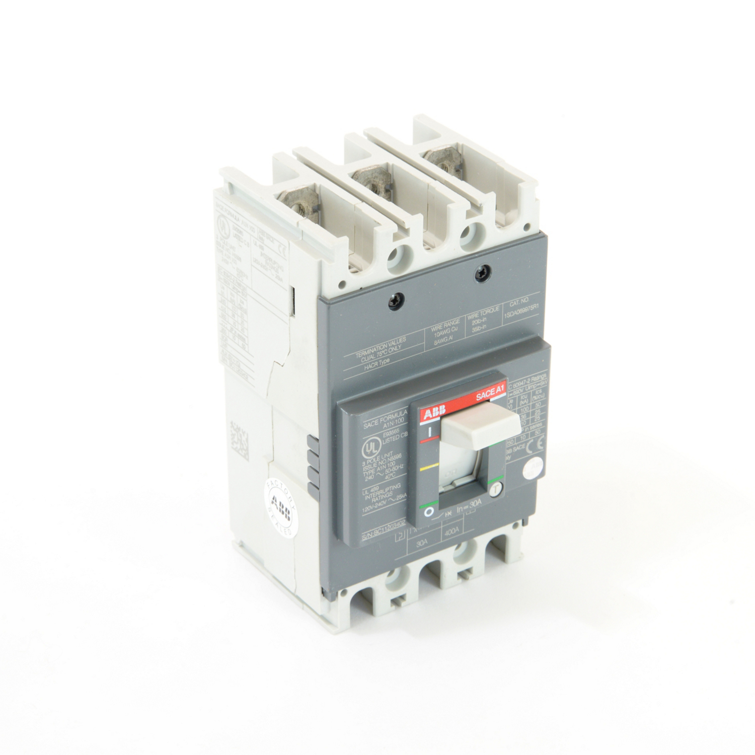 ABB A1N030TW Molded Case Circuit Breakrs