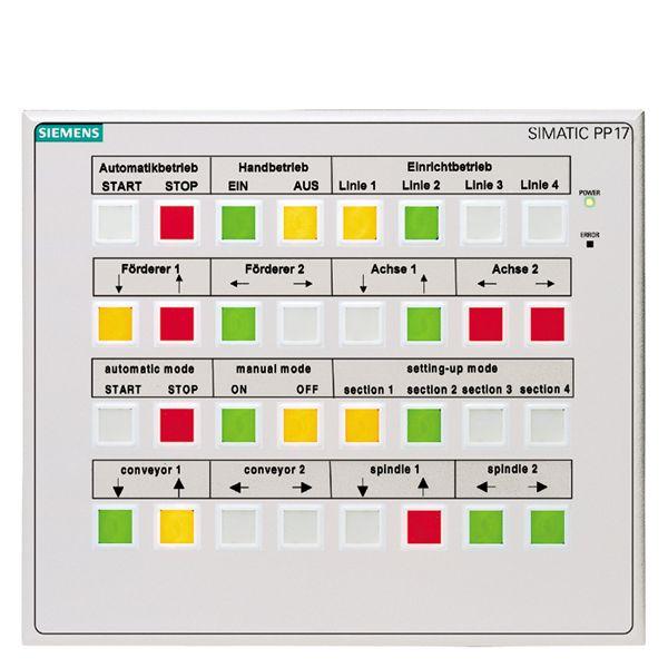 Siemens 6AV36883ED130AX0 Pushbutton Panel