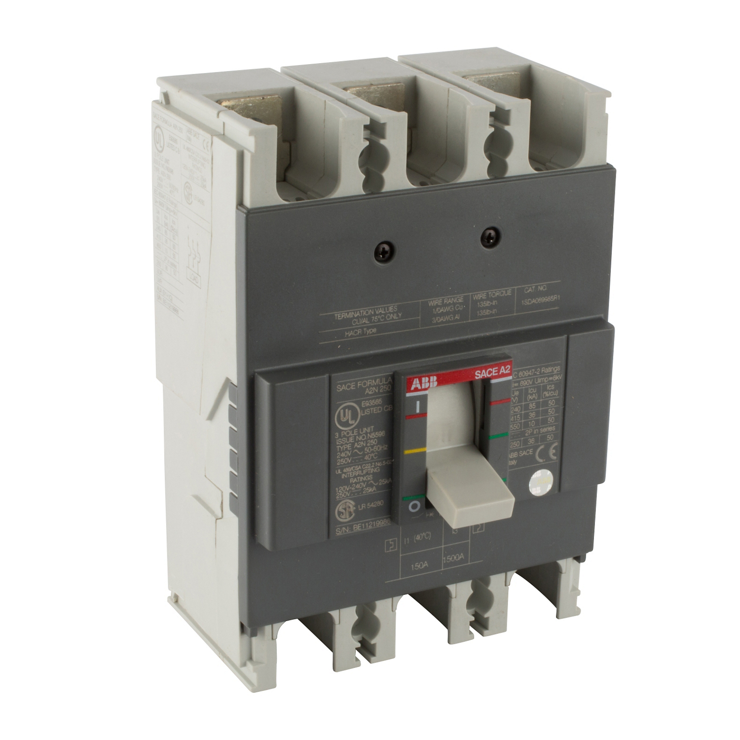 ABB A2N150TW Molded Case Circuit Breakrs