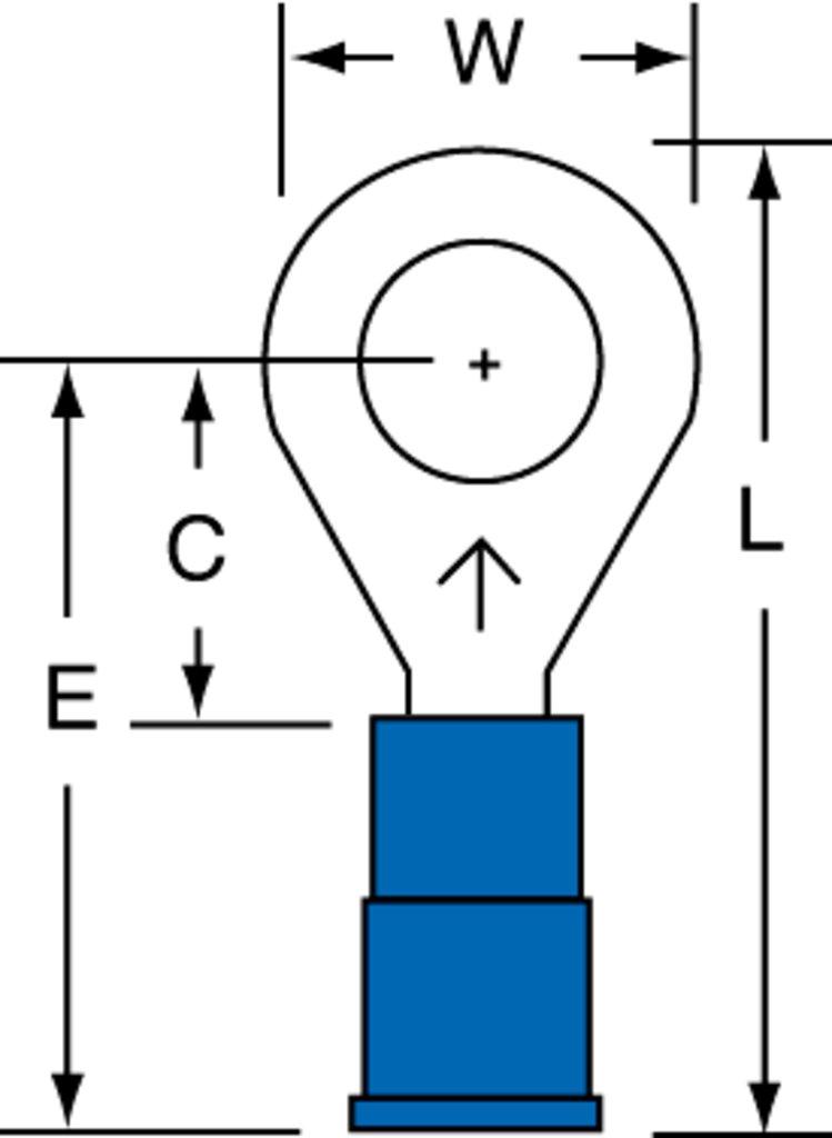 3M MVU14-14R/SX Ring Terminal