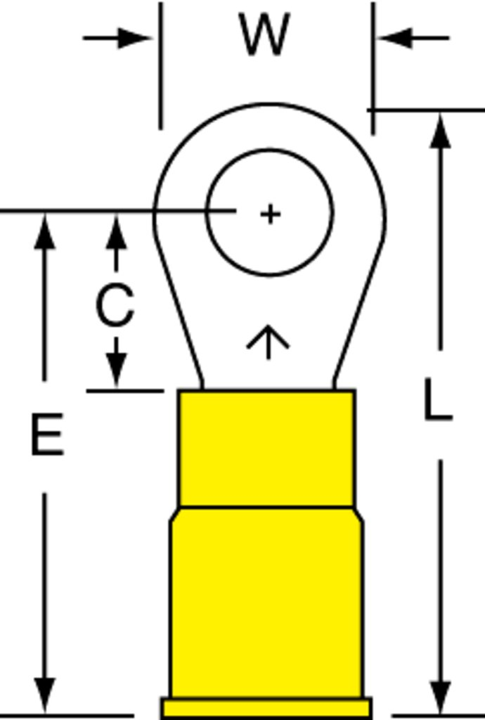 3M MVU10-10RX Ring Tongue Terminal