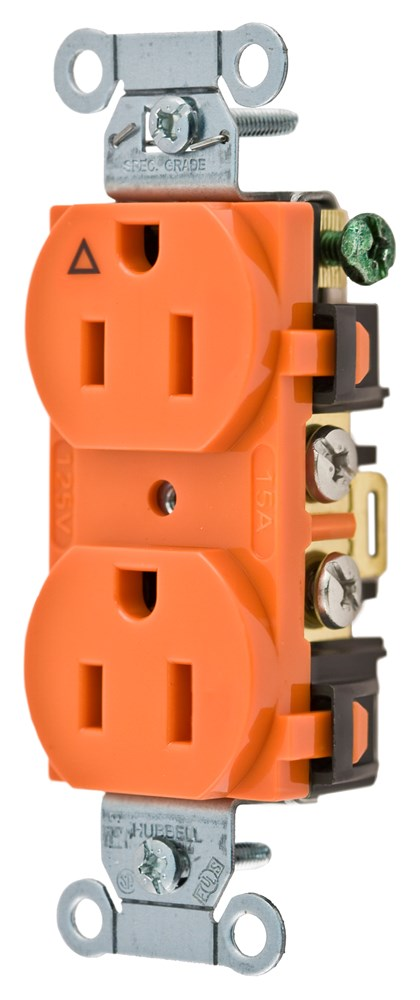 Hubbell IG15CR Straight Blade Receptacle