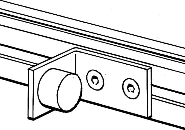 ABB 2TLA040033R2700 Pre-Assembled Door Stop