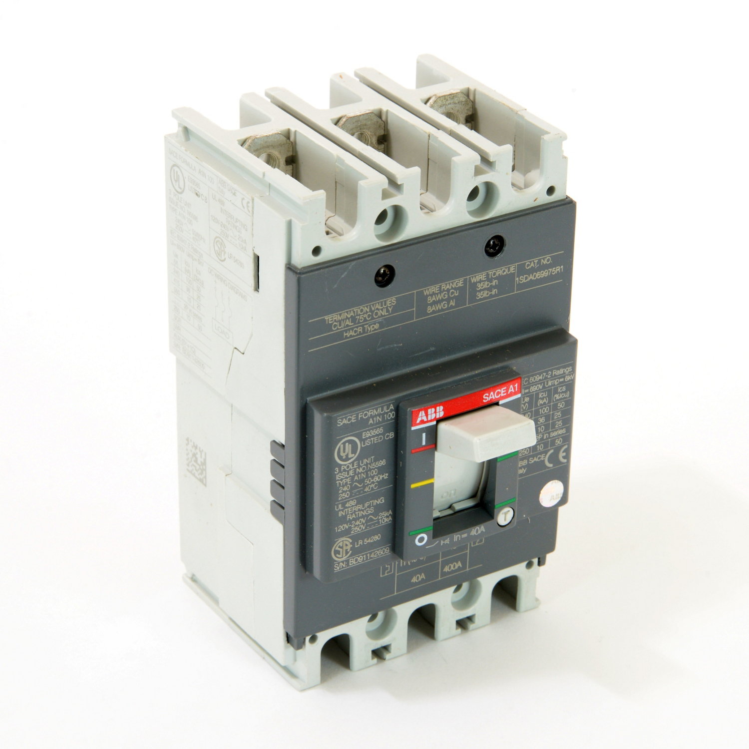 ABB A1N040TW Molded Case Circuit Breakrs