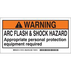 Brady 101517 Arc Flash Label