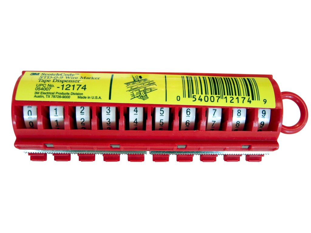 3M STD-0-9 Wire Marker Roll And Dispenser