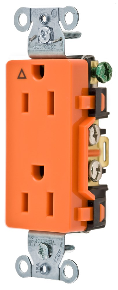 Hubbell IG15DR Straight Blade Receptacle