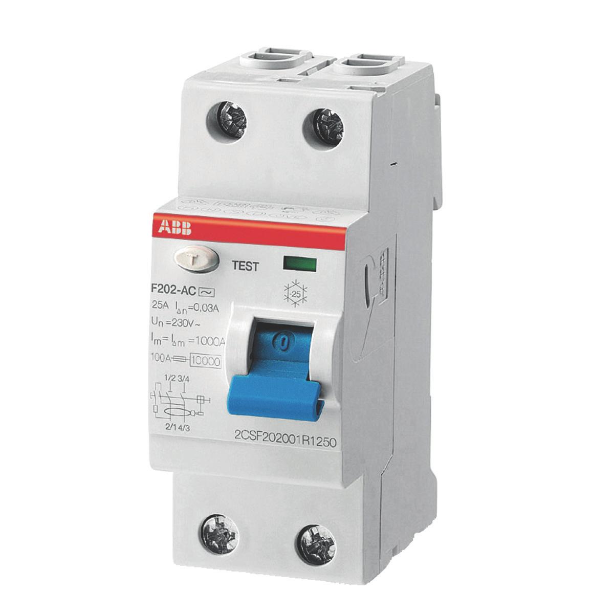 ABB F202AC-25/0.03 Residual Current Circuit Breaker