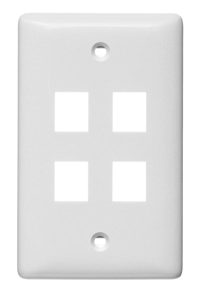 Hubbell NSP14W Multimedia Faceplate