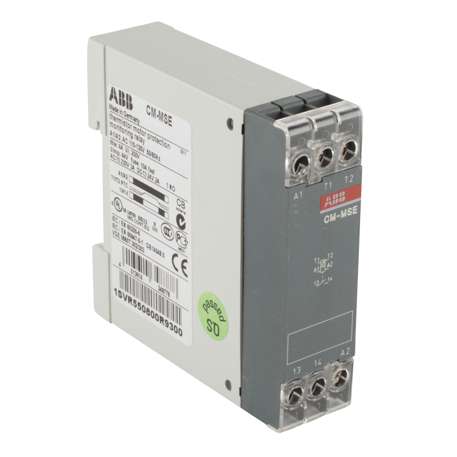 ABB 1SVR550800R9300 Thermistor Motor Protection Relay