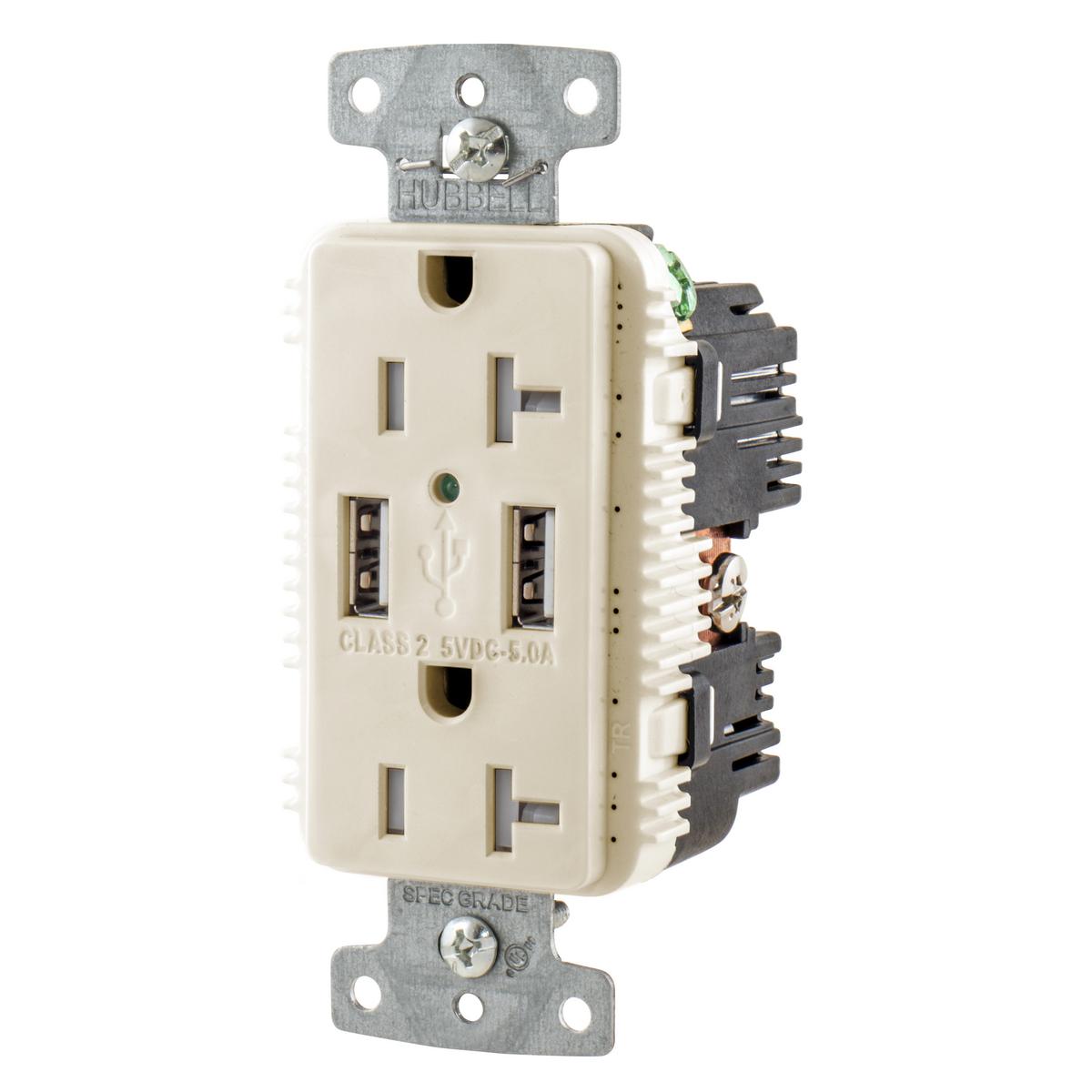 Hubbell USB20A5LA USB Charger Receptacle