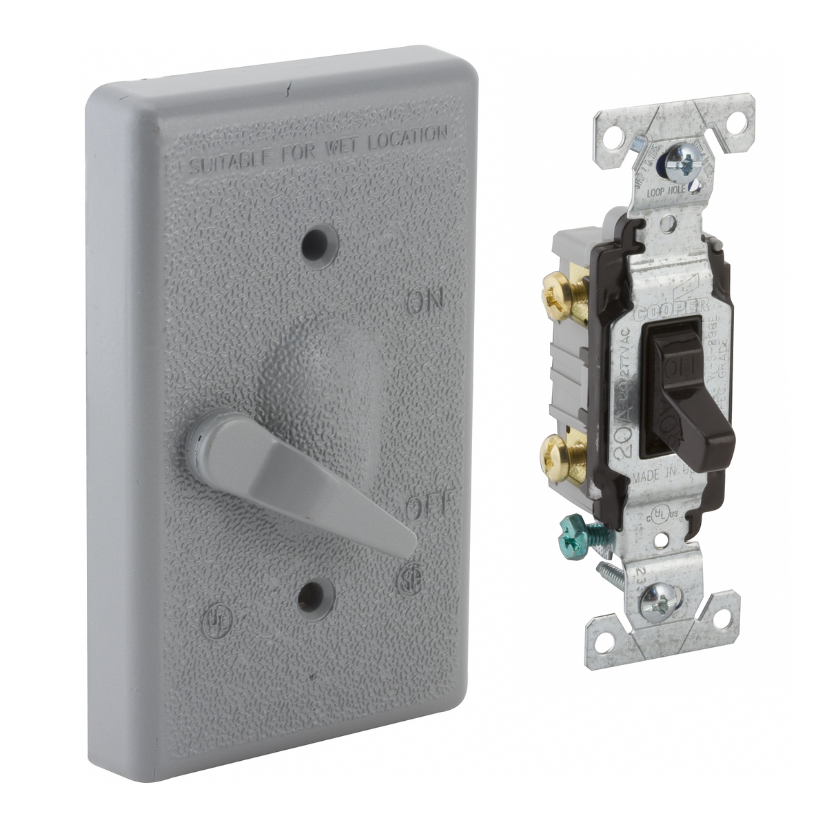 Hubbell-Raco 5137-0 BELL Lever Switch Cover