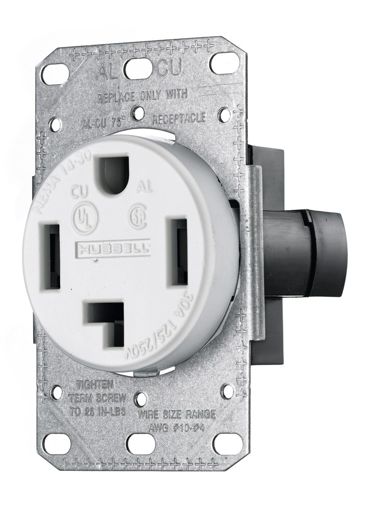 Hubbell RR430FW Straight Blade Power Receptacle