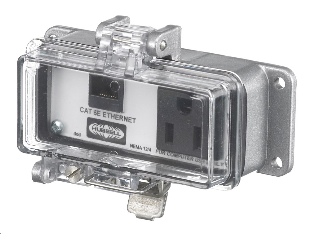 Hubbell P155E Power/Data Access Port